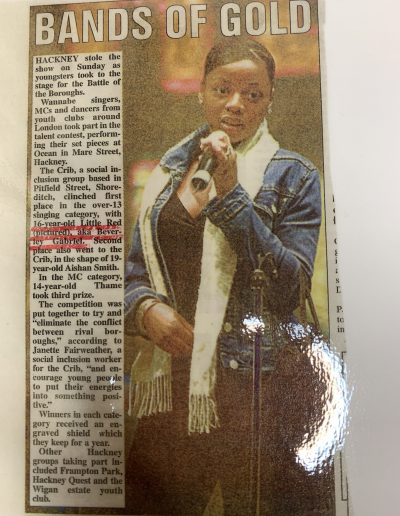Scarlet Gabriel, press, media, singer, Hackney, London1
