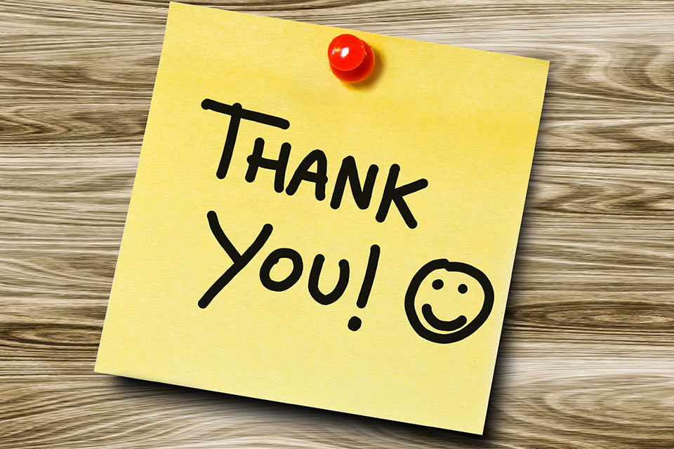 """The Importance of """"Thank you"""""""
